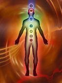 image of chakra  - Chakra points son the human body - JPG