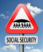 stock photo of social housing  - social security services benefit plans for retirement healthcare disability and unemployment - JPG