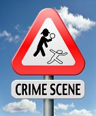 picture of crime solving  - crime scene investigation murder forensic science invest criminal case and searching and collecting evidence to solve assassination - JPG