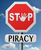 stop piracy and illegal copying copyright and intellectual property protection protect copy of trademark brand poster