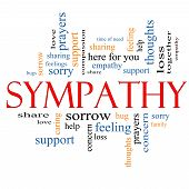 stock photo of sympathy  - Sympathy Word Cloud Concept with great terms such as sorrow feelings loss support prayers thoughts and more - JPG