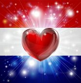 Love Netherlands Flag Heart Background
