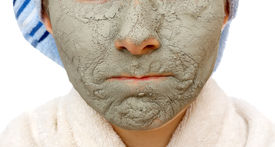 picture of mud pack  - Skin firming facial mask for the beauty and healthy skin - JPG