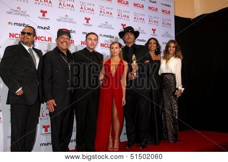 LOS ANGELES - SEP 27:  Tito Larriva, Danny Trejo, Daryl Sabara, Alexa Vega, Robert Rodriguez, Rosario Dawson, Jessica Alba at the 2013 ALMA Awards at Pasadena Civic  September 27, 2013 in Pasadena, CA