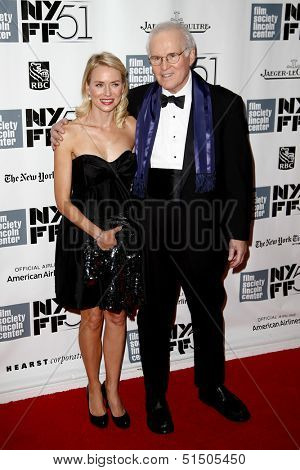 NEW YORK-SEP 27: Actor Charles Grodin and Naomi Watts are seen filming