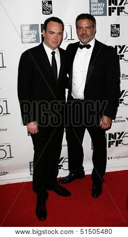 NEW YORK-SEP 27: Producer Michael De Luca (R) and Dana Brunetti attend