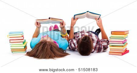Teens Reading Books
