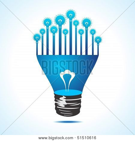 Illustration of Bulbs on half bulb