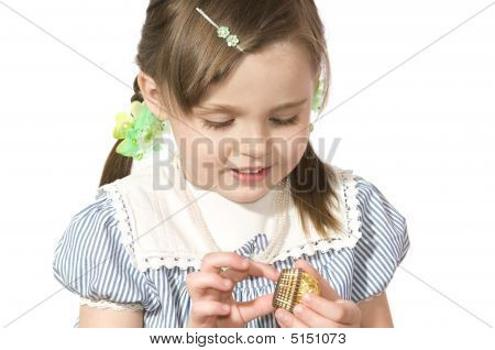 Little Girl With Sweet