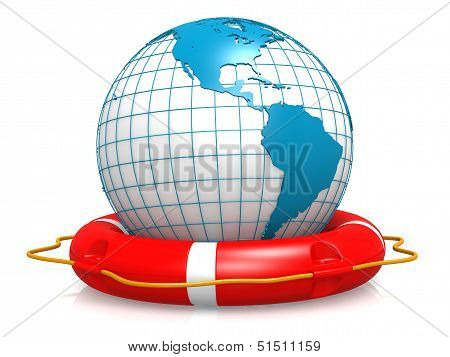 Life buoy and earth