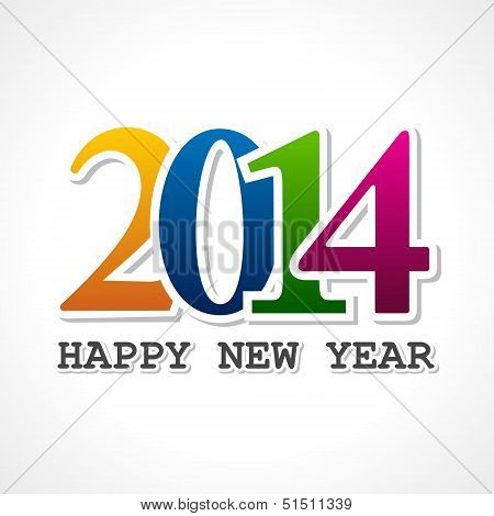 Creative new year,2014 concept
