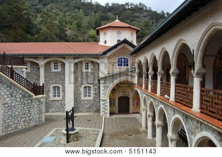 Monastery Kykkos In Cyprus, Troodos Mountains.