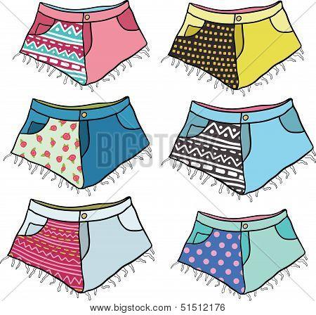 hipster shorts set