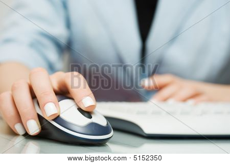 Wireless Computer Mouse And Keyboard.