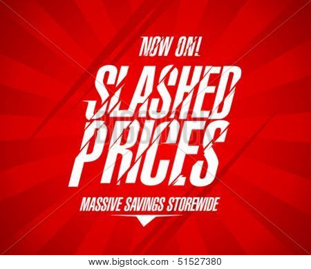 Slashed prices design template.