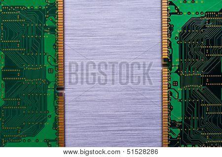 Ram chips on brushed metal