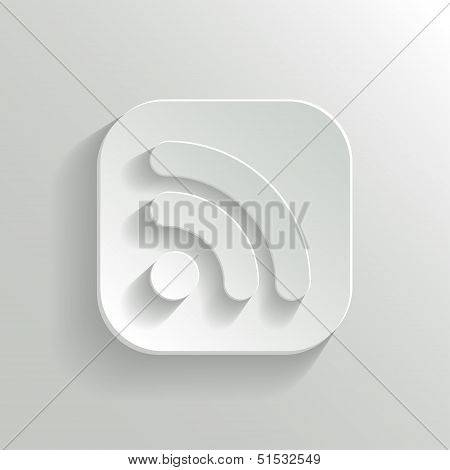 Rss Icon - Vector White App Button