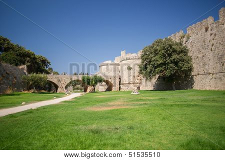 The ancient city of the Knights Hospitallers in Rhodes.