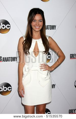 LOS ANGELES - SEP 28:  Camilla Luddington at the Grey's Anatomy 200th Show Party at The Colony on September 28, 2013 in Los Angeles, CA