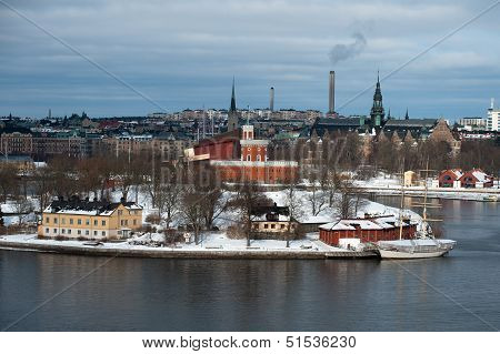 The Brig Tre Kronor Af Stockholm In Winter