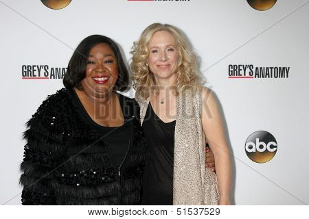 LOS ANGELES - SEP 28:  Shonda Rhimes, Betsy Beers at the Grey's Anatomy 200th Show Party at The Colony on September 28, 2013 in Los Angeles, CA