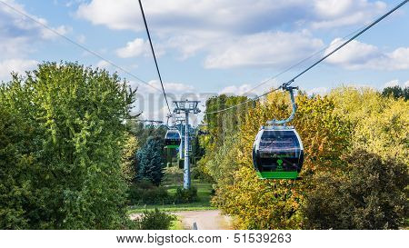 The ropeway in Silesia Park