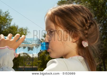 Drinking A Water