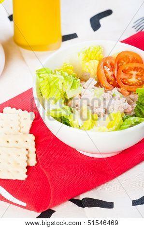 tuna salad with crackers