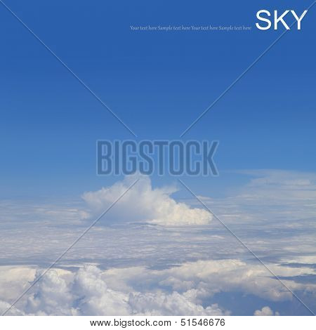 Aerial photography of atmosphere with clouds