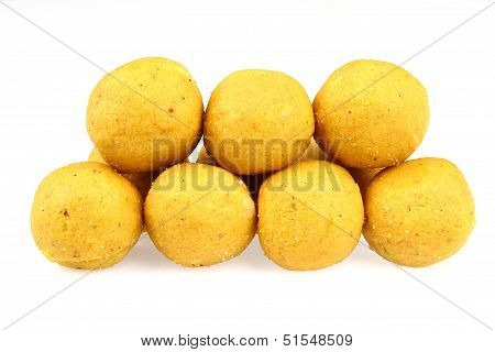 Indian Sweets Isolated On A White Background.