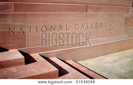 National Gallery of Art Sign