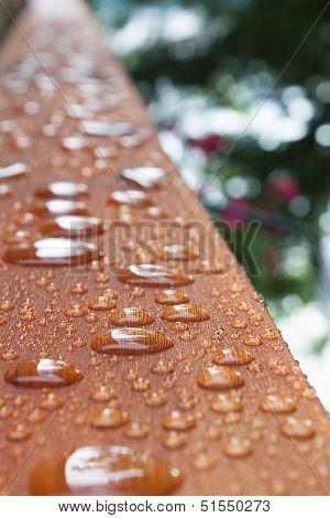 Deck Rail After Rain
