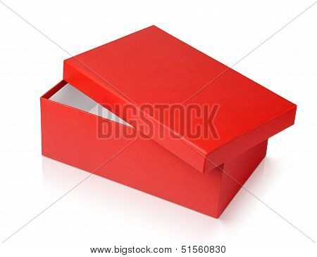 Red Shoe Box Isolated On White