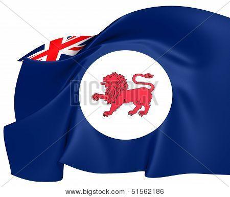 Flag Of Tasmania, Australia.