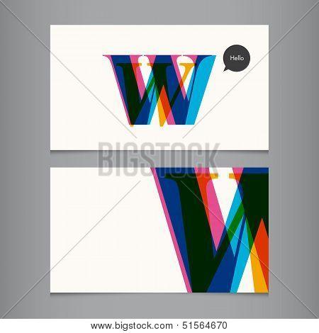 W-business-card