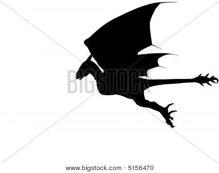 3D Dark Dragon.