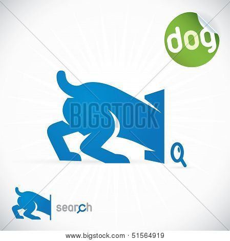 Dog Search Icon