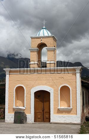 Brick Catholic Church near Cotacachi