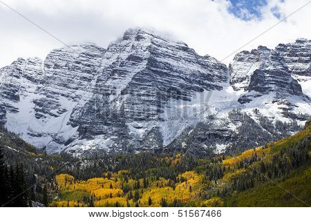 Mountain And Aspens