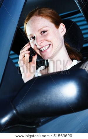 Woman Driver With Phone
