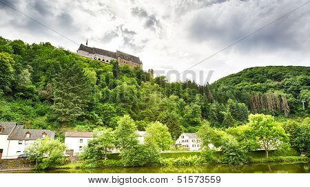 The Vianden Castle And Part Of The City Below It