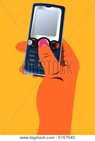 Hand With Cellphone