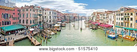 Grand Canal. Panorama. Venice. Hdr
