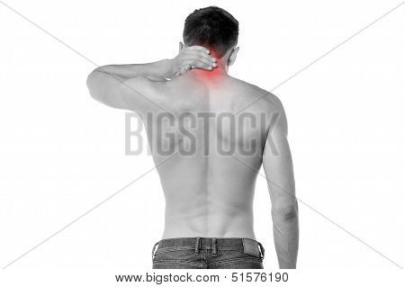 Young Man Having Neck Ache