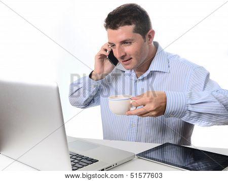 Businessman Multi-tasking