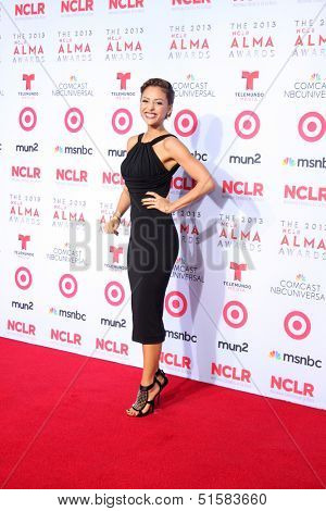 LOS ANGELES - SEP 27:  Lindsey Morgan at the 2013 ALMA Awards - Arrivals at Pasadena Civic Auditorium on September 27, 2013 in Pasadena, CA