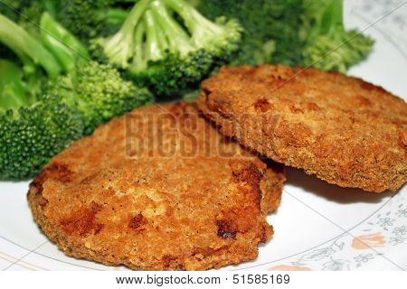 Chicken Patties And Broccoli