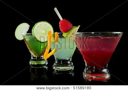 Colorful Fruity Cocktails