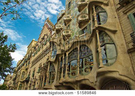 BARCELONA - MAY 8: The facade of the house Casa Battlo on May 8,