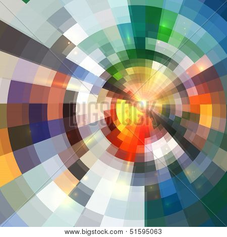 Bright abstract shining circle tiles background